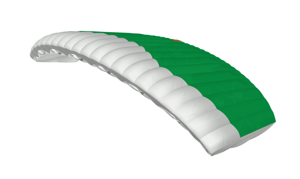green and white icarus canopies jfx 2 product photo from 3D canopy colour picker