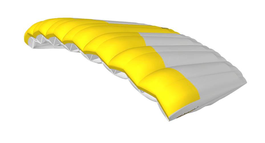 Icarus Canopies Kraken canopy white yellow