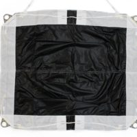 top view of black icarus canopies by nz aerosports RDS removable deployment system
