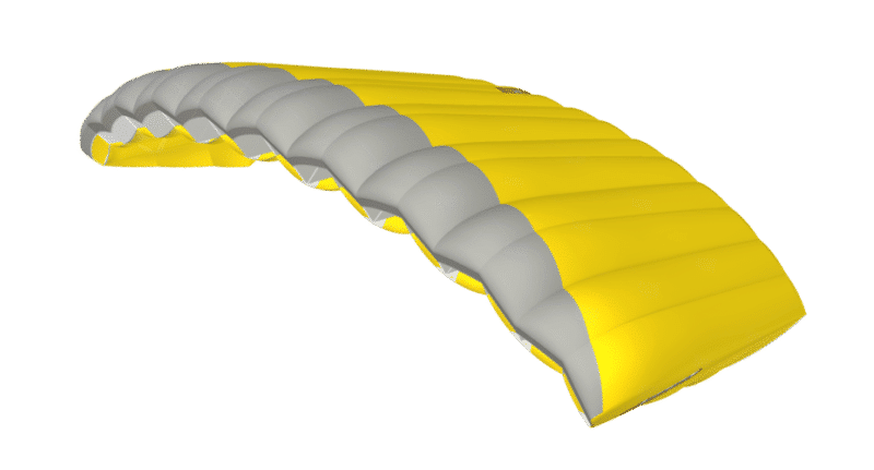 nz aerosports icarus canopies safire 3 canopy 3D viewer side view