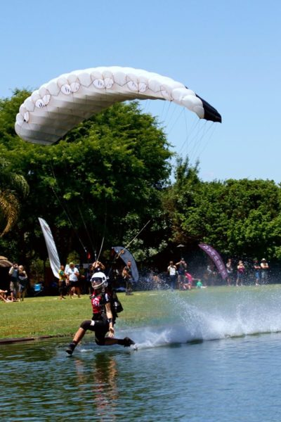 Robin free styling it up over the pond at Skydive Pretoria