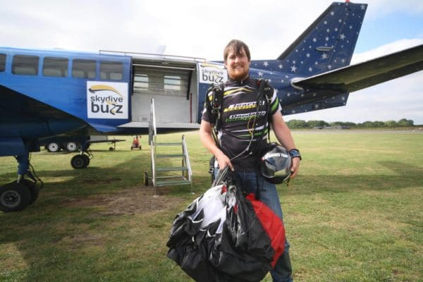 Speed skydiving Mikey Lovemore