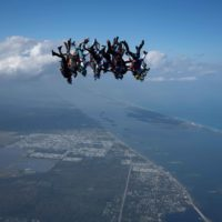 Skydivers flying head down photo original by Elliot Byrd on Sharing Perspectives Icarus Canopies blog