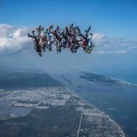Skydivers flying head down photo edited by Steve Fitch on Sharing Perspectives Icarus Canopies blog 2