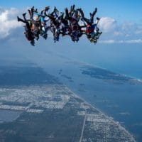 Skydivers flying head down photo edited by Scott Patterson on Sharing Perspectives Icarus Canopies blog